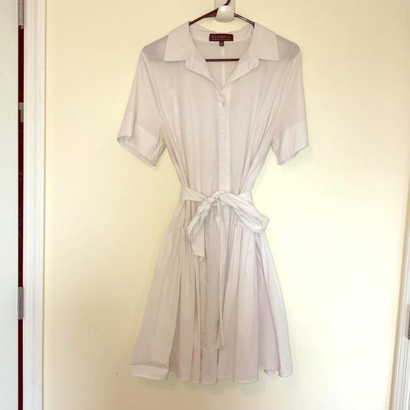 Eloquii Dresses & Skirts - White Eloquii shirt dress